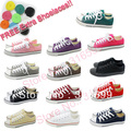 Free Shipping Men Women Fashion Low Style Canvas Shoes Lace Up Casual Breathable Sneaker Wtih Box SK001-A FREE EXTRA SHOELACES!