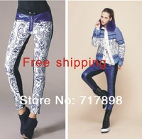 New 2013 Brand Women Winter Thick White Duck Printing Down Pants Female Warm Fashion Thickening Playsuit Trousers,Pants & Capris