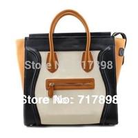 2014 new  women messenger bags high quality vintage bag cowhide genuine leather scrub smiley bags handbags women famous brands