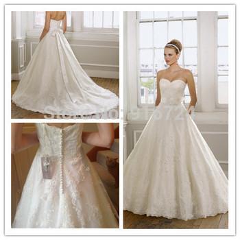 Горячая распродажа белый Украшение из слоновой кости бальное платье свадебные платья съемный створки-сатин цветок часовня поезд молния кнопки на заказ