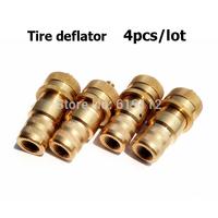 4pcs/lot Adjustable Tire Deflator Kit 6-30PSI Automatic tire tyre deflator with neoprene bag  FREE SHIPPING