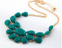 2013 Hot New  European/Vintage Style Gold  Necklaces & Pendants Stone Water Drop  Wholesale Jewelry
