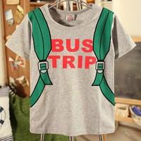Cotton cartoon children t shirt for boys unisex shirt wholesale t-shirts girls tops tee children clothing round neck 2014 sale