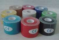 5rolls/lot kinesiology Kinesio tex musle Tape bandage  CureTape / Ventilatior,Waterproof/Sports Safety 5CM*5M Mix Colours