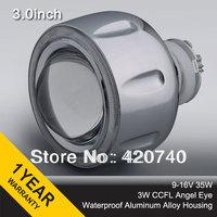 "3GQI 3"" inch 35w Bixenon HID Projector Lens light CCFL Angel Eye Headlight H1 H4 H7 H13 HB3 HB4 9004 9007 4300k 6000k 8000k"