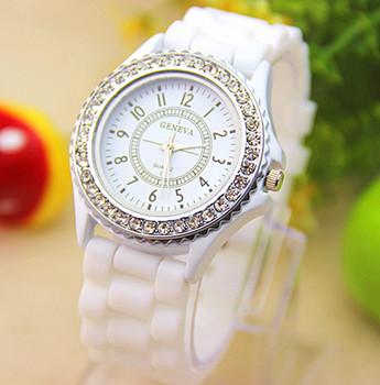14 цветов мода силикон женева часы горячая распродажа женская часы-брошь женская горный хрусталь часы 1 шт. BW-SB-02