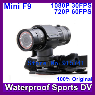 2013 Newest Mini F9 Full HD 1920*1080P Sport Action Camera Bike Mount Helmet Bracket 3M Car Holder 120 degree Free Shipping(China (Mainland))