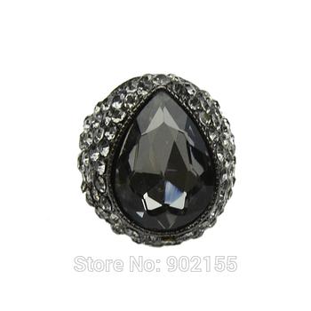 Luxury hot sale Punk Rock big created diamond engagement rings for women