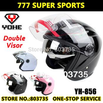 Double Visors Motorbike Open Face Helmet Motorcycle Helmets Moto Jet Capacete Casco Yohe YH856