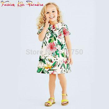 Super deal 2014 summer new brand baby&kids girl dress, floral children princess dress, high quality cotton girls' dresses, 2-6Y