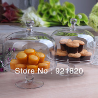 65%OFF discount promotion 2013 new Glass cake plate cake pan glass fruit plate home decoration 20cm height JR07 1pc