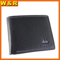 soft gentlemen leather man wallet flip up ID window money pocket man purse free shipping P3317-1
