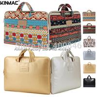 Kinmac Leather laptop bags for men ,shoulder women  Laptop sleeve bag 14  case for macbook air /pro 13 15  computer accessories