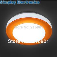 7w 210mm blue orange purple lampshade led ceiling lamp suspended round aisle110v 220v 230V  240V in kitchen, washroom,gallery