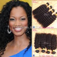 "Malaysian deep wave 4pcs Malaysian Curly hair weaves 8""-30"" free shipping human hair Cheap Malaysian hair Realove hair weaves"