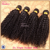 "Realove Peruvian Virgin Hair Kinky Curly 4pc 8""-28"" Afro Kinky Curly Hair Cheap Remy Human Hair Kinky curly virgin hair"