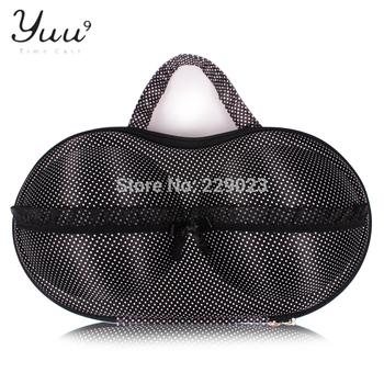 (3pcs/ lot) Free Shippig  bra bag, bra case underwear storage black white dot fabric travel underwear storage gift set