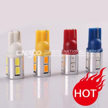 2pcs free shipping 5W 10SMD-5630 9V-18V T10 W5W 194 168 white LED width lamp car wedge light bulb