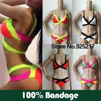 100% Bandage High Waisted Two Piece Swimsuit Bandage Bikini Sexy Women 2013 Bandage Swimwear