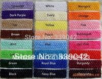 Free Shipping , 100 pcs/ lot, 24 Colors Elastic Crochet Headbands Girl Hair Accessary, Newborn/ Infant /baby girl hairband