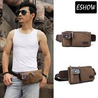 Eshow Canvas waist purse for men Cool belt bag Best waist packs for men hip bag BFY000031