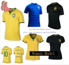 A+++ Top Thailand Brasil Player Version Thai New 2014 Brazil Away Blue 3RD Green Soccer Jersey Futbol Shirt Custom Neymar JR(China (Mainland))