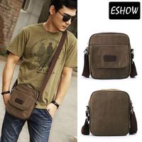 Eshow Men canvas messenger bag small satchel bag crossbody bags fashion men shoulder bags BFK010681