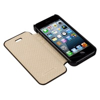 For iPhone 5 5S Case Leather Folio Flip Design Fully Protective Magnetic Phone Case For iPhone 5 Cover Free Shipping