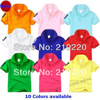 free shipping favorite and popular retail summer kids cotton t shirt children pure color boys sport top T-shirt