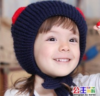 3360GZMM Winter  Children Skullies & Beanies  Baby  Winter Warm Cartoon Caps Ear Protected Children  Winter Caps Free Shipping