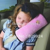 2 PCS /Lot Free Shipping Children Car Safety Belt Adjuster /Baby Car Head&Neck Pillow/ Child Auto Shoulder  pad 5 Colors