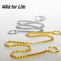 Gold/Silver High Quality Fur Saver Design Dog Training Choke Collar Snake Chain 45-65cm