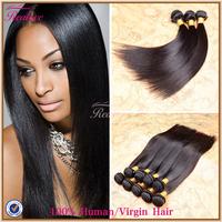 """Peruvian Virgin Hair Straight 3/4pc 8""""-30"""" Human Hair Extension Cabelo Peruvian Straight Hair Weaves 5a Unprocessed virgin hair"""