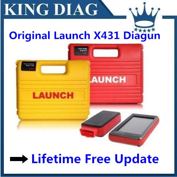 AutoDiag As gift! 2014.10 Newest 120 Software Multi-language Launch X431 Diagun Full Set Lifelong free update 3 years warranty(China (Main