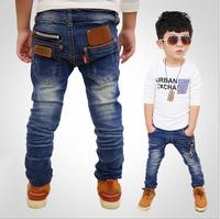 Spring And Autumn 2015 New Children'S Clothing Boys Wild Baby Kids Thicken Jeans Children Trousers New Korean Version