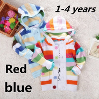 2014 new fashion baby clothing winter pullover o-neck long-sleeved Single-breasted knitting cardigan colorful coats and jackets
