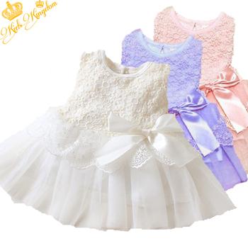 Hot! Retail 1pcs/lot girls dresses summer 2015 princess dress white baby dress lace cute dress 3colors LF9989