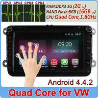 Quad Core Android 4.4.2 VW Car DVD GPS Navi 1.8G CPU RAM GOLF 6 new polo New Bora JETTA MK4 B6 PASSAT Tiguan SKODA OCTAVIA Fabia