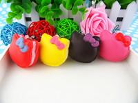 New Arrival 5.5cm Kawaii Hello Kitty Squishies Bag Charm Wholesale Free Shipping Macaroon Rare Squishy Cake/Mobile Phone Straps