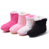 Free Shipping 2014 New Style Doe's Not Hurt The Floor Slippers At Home Knitting Wool Slippers In The Spring Autumn Winter
