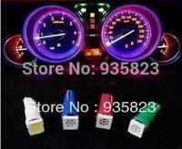 10pcs White T5 1 5050 SMD Dashboard Gauge Wedge Car Auto LED Lights Bulb Lamp Daytime running light