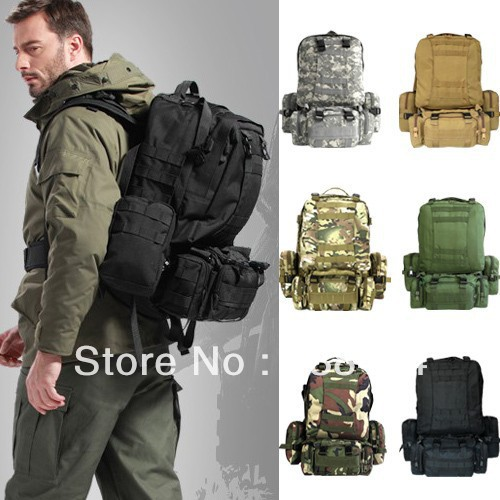 Tactical Military Mountaineering Hiking Outdoor Combination Large Capacity Molle Backpack Double-shoulder Bag Day Rucksacks(China (Mainland))