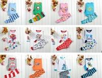Boys Girls Long Sleeve home suit Toddler Kids Sleepwear suit design underwear 2 - 7 yrs