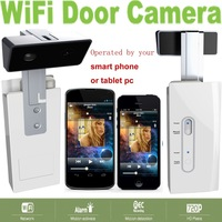 Door Camera Wireless Home Automation as wifi Doorbell doorview for Smartphones with Alarm Detection recording 720P Free shipping