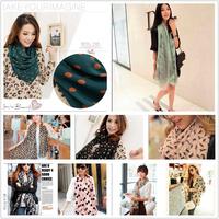 2014 New Fashion Infinity Wraps Spring Autumn Lady Scarves Silk Cotton shawls Scarf  For Women Chiffon Apparel Accessories