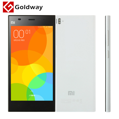 "Original Xiaomi Mi3 Mi 3 M3 64GB Quad Core WCDMA Mobile Phone 5.0"" IPS 1920x1080 2GB RAM Snapdragan 800 13.0MP Android 4.4 MIUI(Hong Kong)"