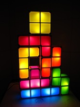 2013 Innovative gift top 20-Tetris Modular LED Lamp_decoration novelty night light_stackable_endless imagination for combination(China (Mainland))