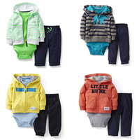 1 set Retail, Carters Original Baby Boys 2pcs And 3pcs Clothing Set,Spring And Autumn Clothing Set Freeshipping (in stock)