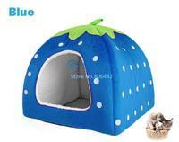4Pcs/Lot Soft Strawberry Pet Cat Bed Dog House Kennel Nest Doggy Warm Cushion Basket 3Colors 3Sizes 18913