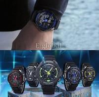 New Multi-Function Men Cool S-Shock Sports Watch Analog Digital Waterproof Alarm SV000894 B19